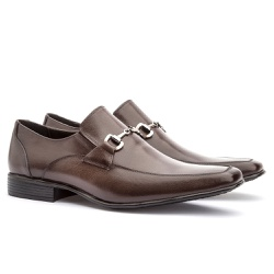 Sapato Social Masculino Leblon Em Couro Ref-654 Ca... - Sapatos de Franca