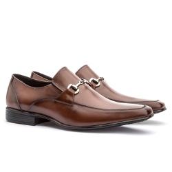 Sapato Social Masculino Leblon Em Couro Ref-654 Wh... - Sapatos de Franca