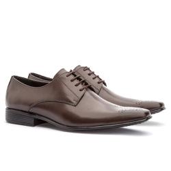 Sapato Social Masculino Leblon Em Couro Ref-655 Ca... - Sapatos de Franca