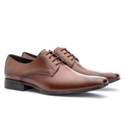 Sapato Social Masculino Leblon Em Couro Ref-655 Wh... - Sapatos de Franca