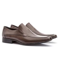 Sapato Social Masculino Leblon Em Couro Ref-667 Ca... - Sapatos de Franca