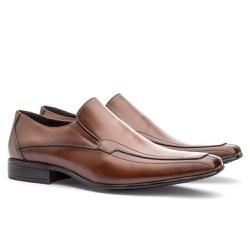 Sapato Social Masculino Leblon Em Couro Ref-667 Wh... - Sapatos de Franca