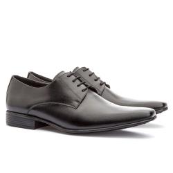 Sapato Social Masculino Leblon Em Couro Ref-693 Pr... - Sapatos de Franca