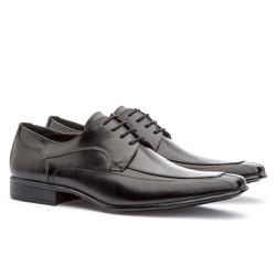 Sapato Social Masculino Leblon Em Couro Ref-695 Pr... - Sapatos de Franca