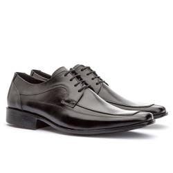 Sapato Social Masculino Veneza Em Couro Ref-112 Pr... - Sapatos de Franca