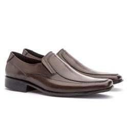 Sapato Social Masculino Veneza Em Couro Ref-114 Ca... - Sapatos de Franca