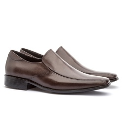 Sapato Social Masculino Veneza Em Couro Ref-128 Ca... - Sapatos de Franca
