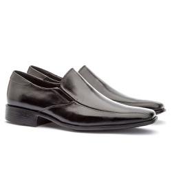 Sapato Social Masculino Veneza Em Couro Ref-128 Pr... - Sapatos de Franca