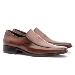 Sapato Social Masculino Veneza Em Couro Ref-128 Wh... - Sapatos de Franca