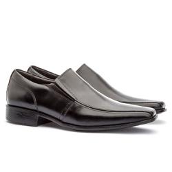 Sapato Social Masculino Veneza Em Couro Ref-170 Pr... - Sapatos de Franca