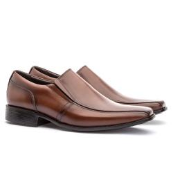 Sapato Social Masculino Veneza Em Couro Ref-170 Wh... - Sapatos de Franca