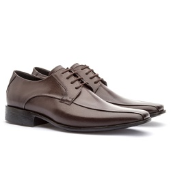 Sapato Social Masculino Veneza Em Couro Ref-176 Ca... - Sapatos de Franca