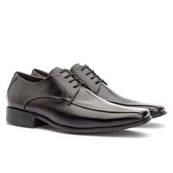 Sapato Social Masculino Veneza Em Couro Ref-176 Pr... - Sapatos de Franca