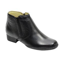 Botina Social Em Couro Cor Preto Ref. 3000-402 - Sapatos de Franca