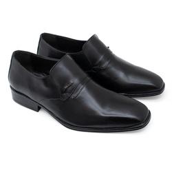 Sapato Social Sândalo Bourbon Em Couro Pelica Pret... - Sapatos de Franca