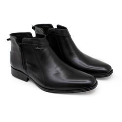 Bota Social Masculina Sândalo Bourbon Com Zíper em... - Sapatos de Franca