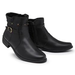 Coturno Feminino 11300 Pr... - Schiareli Calçados