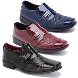 Kit 3 Pares Sapatos Sociais Infantil Masculino Em ... - Schiareli Calçados