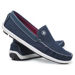 Dock Side Masculino Jeans Solado Blaqueado Schiare... - Schiareli Calçados