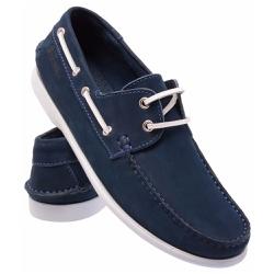 Mocassim 606 Azul Marinho... - Schiareli Calçados