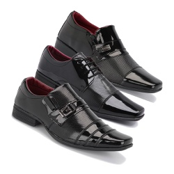 Kit 3 Pares Sapatos Socia... - Schiareli Calçados