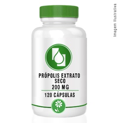Própolis Extrato Seco 200mg 120cápsulas - Seiva Manipulação | Produtos Naturais e Medicamentos