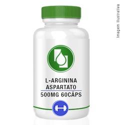 L-Arginina Aspartato 500mg 60cápsulas - Seiva Manipulação | Produtos Naturais e Medicamentos