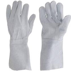 Luvas de Proteção em Couro Punho Longo - 20 cm - Selaria Pinheiro