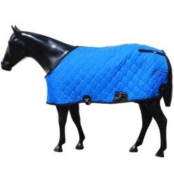 Capa para Cavalo Forrada Fechada no Peito (Azul Royal) - Selaria Pinheiro