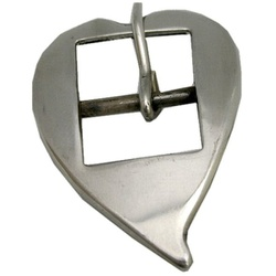 Fivela Coração de Bico para Cabeçada 16 mm Inox - Selaria Pinheiro