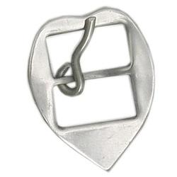 Fivela Coração para Cabeçada 16 mm Inox - Selaria Pinheiro