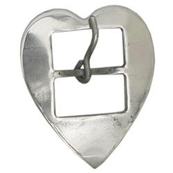 Fivela Coração para Loro 32 mm Inox - Selaria Pinheiro
