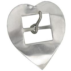 Fivela Coração para Travessão 44 mm Inox - Selaria Pinheiro