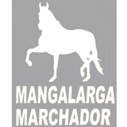 Adesivo Mangalarga M03 (Branco) - Selaria Pinheiro