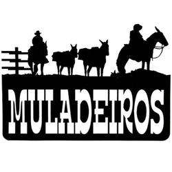 Adesivo Muladeiros M01 (Preto) - Selaria Pinheiro