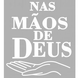Adesivo Nas Mãos De Deus (Branco) - Selaria Pinheiro