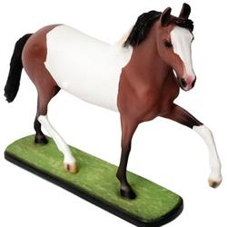 Escultura Miniatura de Cavalo Mangalarga Pampa - Selaria Pinheiro