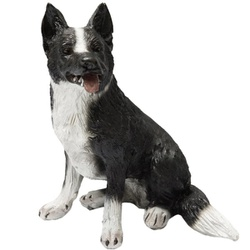 Escultura Miniatura Cachorro Border Collie - Selaria Pinheiro