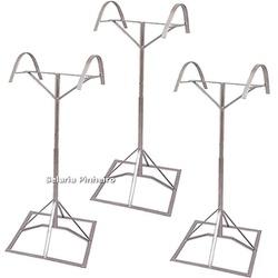 Kit com 3 Suportes de Pedestal p/ Selas (com regulagem de altura) - Selaria Pinheiro