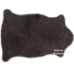 Pelego Natural Penteado 100 x 70cm (Marrom) - Selaria Pinheiro