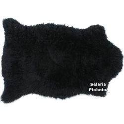 Pelego Natural Penteado 100 x 70cm (Preto) - Selaria Pinheiro