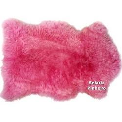 Pelego Natural Penteado 100 x 70cm (Rosa) - Selaria Pinheiro