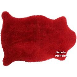 Pelego Natural Penteado 100 x 70cm (Vermelho) - Selaria Pinheiro