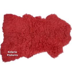 Pelego Natural para Montaria - Tamanho Grande (Vermelho) - Selaria Pinheiro