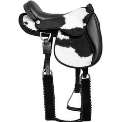 Sela Australiana Cavalgada em Couro Natural c/ Pêlos - Selaria Pinheiro