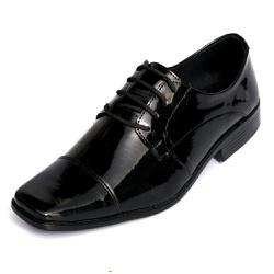 Sapato Social Masculino em Verniz Amarração Selten... - SELTENBRASIL