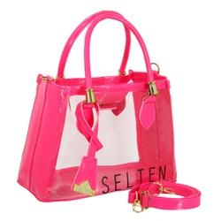 Bolsa Feminina Selten Transparente Rosa - SELTENBRASIL