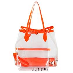 Bolsa Selten Transparente com Neon e Necessaire La... - SELTENBRASIL