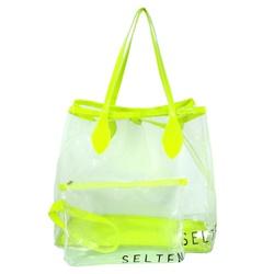 Bolsa Selten Transparente com Neon e Necessaire Ve... - SELTENBRASIL