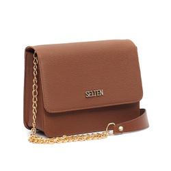 Bolsa feminina, com alça de corrente dourada, pode ser usada, lateral ou transversal. Ideal para festa, passeios, deixando seus looks muito mais lindos e estilosos.